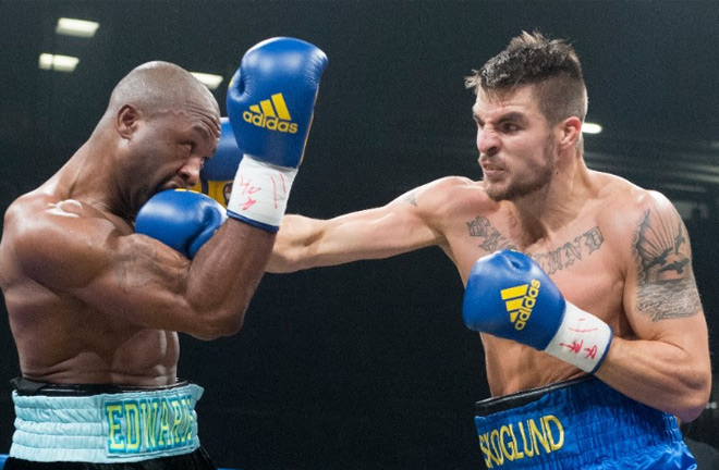 Erik Skoglund in action. Photo credit: ringnews24.com