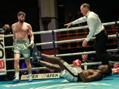 Rocky Fielding wiped out his limited opponent inside two rounds Crediit: MTK Global