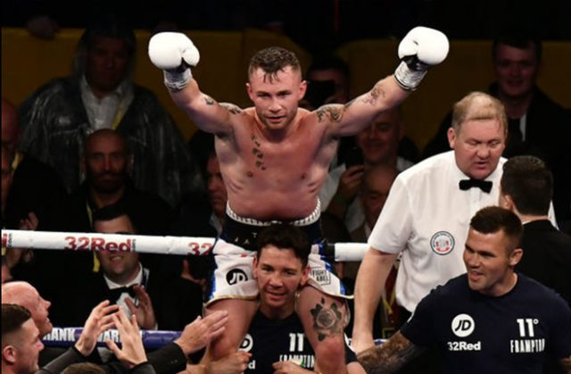 Carl Frampton is hoping to become a three-weight world champion in the near future Photo credit: irishnews.com