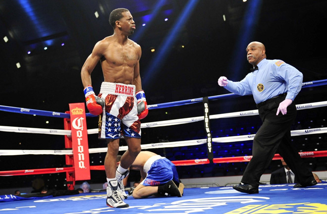 WBO king Jamel Herring has been earmarked for Frampton in March Photo credit: vice.com