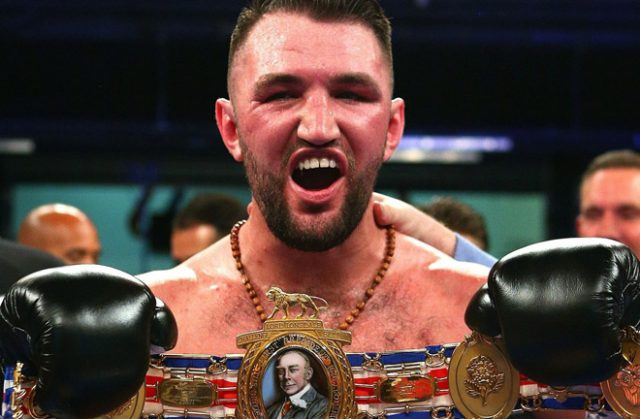 Hughie Fury after winning the British title against Sam Sexton. Photo credit: thesun.co.uk