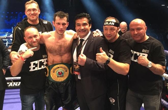 Igor Mikhalkin claimed the IBO world title in 2017 Photo credit: boxingscene.com