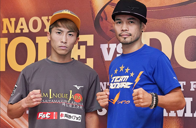 Unbeaten Naoya Inoue faces Nonito Donaire in the Bantamweight World Boxing Super Series final on Thursday in Japan Credit: Naoki Fukuda