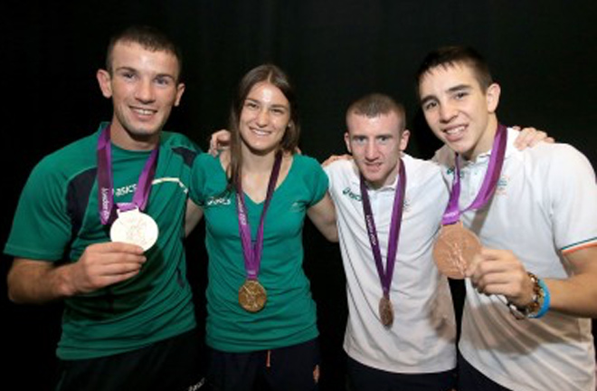 Nevin and his Olympic team mates. Photo credit: the journal.ie