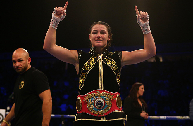 Two-weight world champion Katie Taylor is waiting in the wings for Serrano Credit: Matchroom Boxing