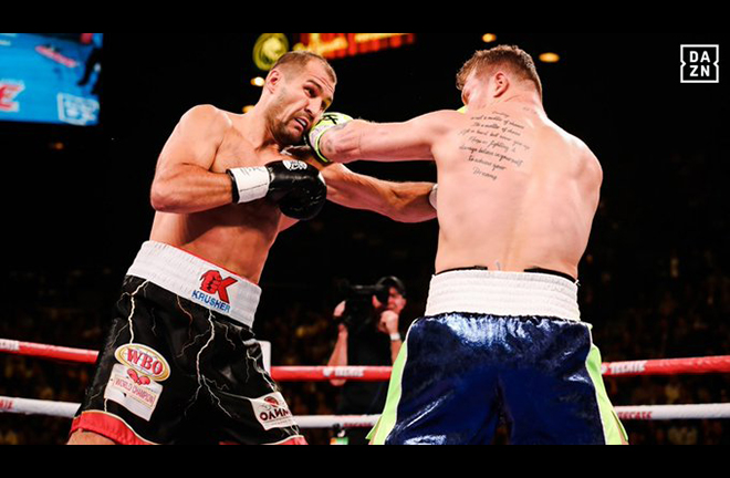 Kovalev had his moments but fell to a vicious 11th round KO Credit: DAZN USA