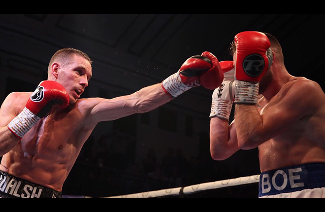 Liam Walsh proved too much for Maxi Hughes at York Hall Credit: MTK Global