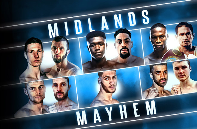 Midlands Mayhem promoted by Frank Warren. Photo credit: FrankWarren.com
