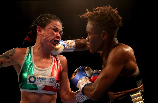 Nicola Adams in action. Photo credit: thesun.co.uk
