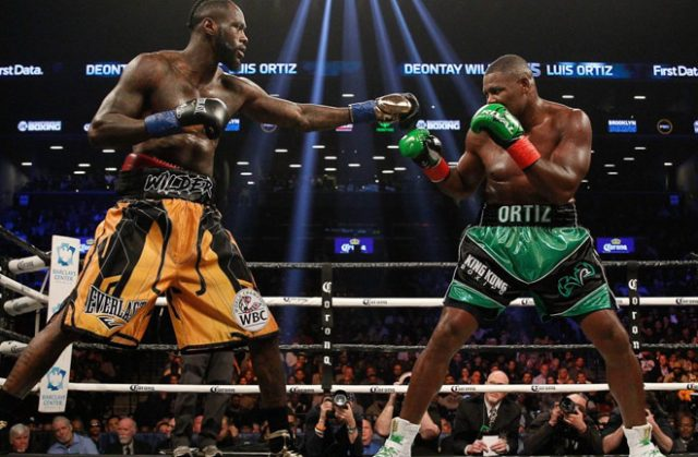 Ortiz gave Wilder huge problems before falling to a 10th round KO Credit: dailysunpost.com