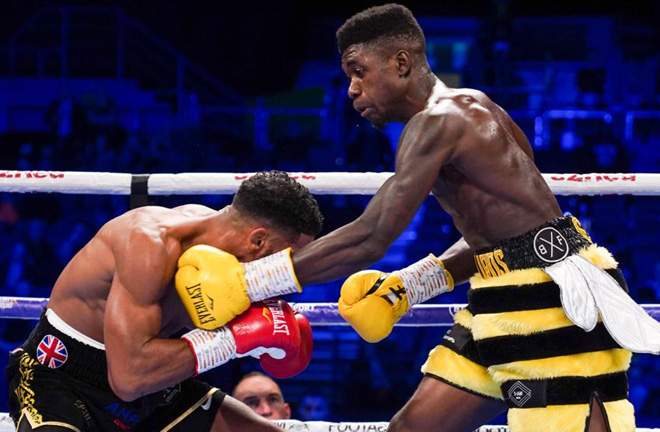 Lerrone Richards claimed the British strap in Birmingham Credit: Frank Warren