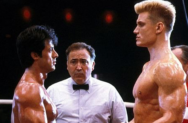 Rocky Balboa and Ivan Drago. Photo credit: cinemablend.com