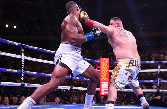 Andy Ruiz Jr vs Anthony Joshua 1. Photo credit: boxingnews24.com