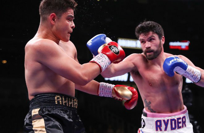 Ryder blew away Bilal Akkawy in three rounds in Las Vegas in May Credit: Matchroom Boxing