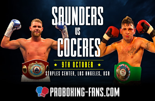 Billy Joe Saunders vs Marcelo Esteban Coceres Big Fight Preview & Predictions