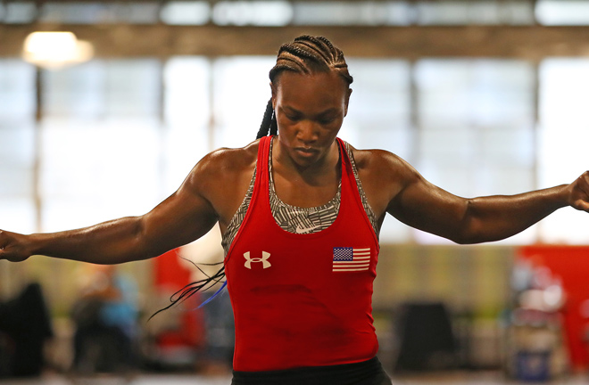 Claressa Shields will face Marie-Eva Dicaire. Photo credit: perform group.com