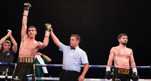 Callum Smith's hand was raised after beating John Ryder. Photo credit: boxingnews24