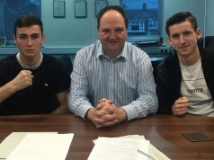 Dean Richardson, Steve Goodwin and Dan Dan Keenan. Photo credit: worldboxingnews.net