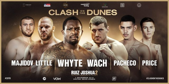 Clash on the dunes undercard. Credit: Matchroom Boxing