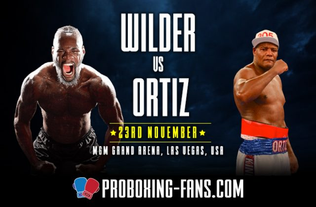 Deontay Wilder defends his WBC crown in a rematch with Luis Ortiz on Saturday