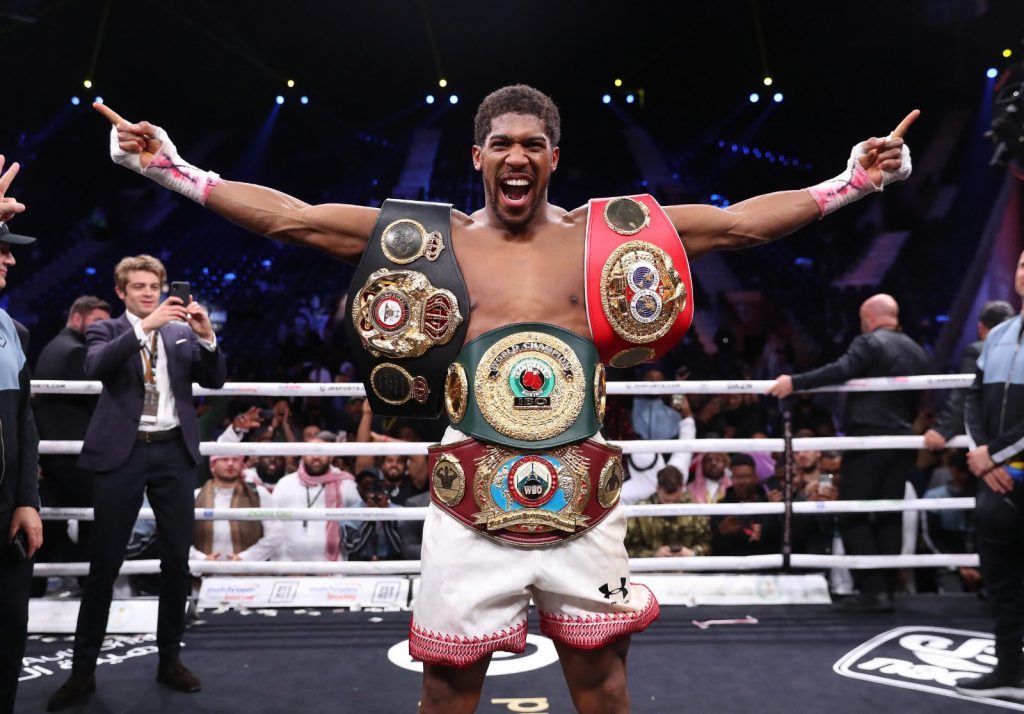 Anthony Joshua beat Andy Ruiz Jr on points to regain his world heavyweight titles Credit: Matchroom Boxing