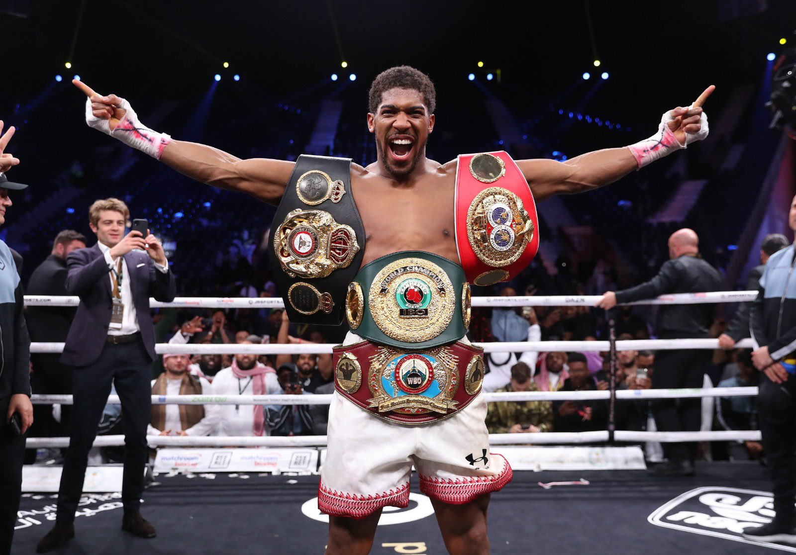 Anthony Joshua beat Andy Ruiz Jr on points to regain his world heavyweight titles in Saudi Arabia in December Photo Credit: Matchroom Boxing