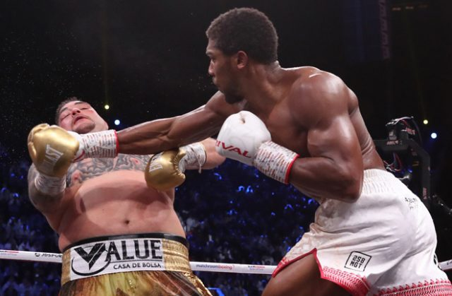 Joshua makes his return after reclaiming the world heavyweight titles in a historic rematch against Andy Ruiz Jr in December Credit: Matchroom Boxing