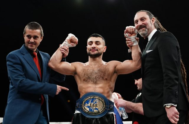David Avanesyan saw off Jose Del Rio inside the first round in Barcelona Credit: Matchroom Boxing