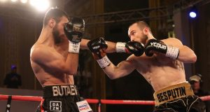 Alexander Besputin got the better of Russian rival Radzhab Butaev to claim the WBA strap Credit: Boxing Scene