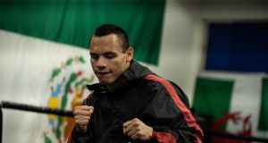 Julio Cesar Chavez Jr takes on fellow former champion Danny Jacobs in Phoenix on Friday Credit: Matchroom Boxing USA