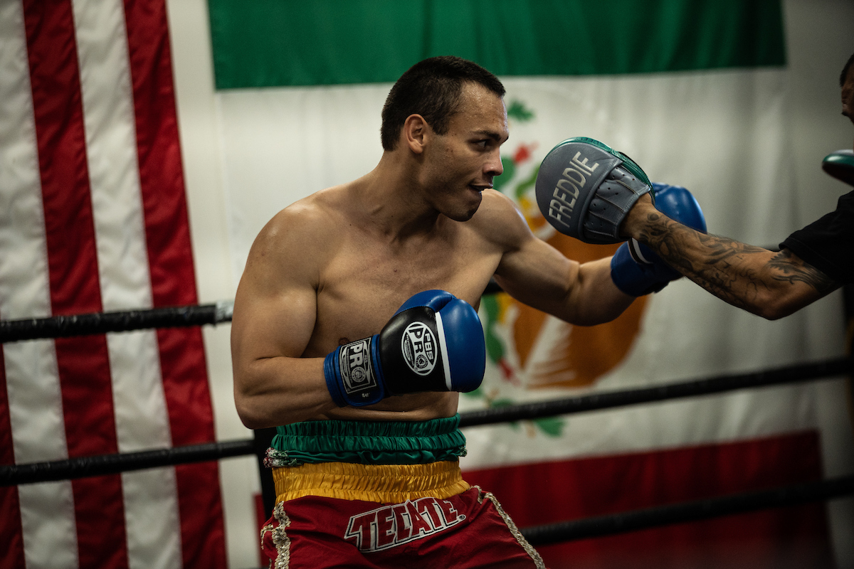 Chavez Jr insists he will become a two-weight world champion after facing Jacobs Credit: Lewis Ward/Matchroom Boxing USA