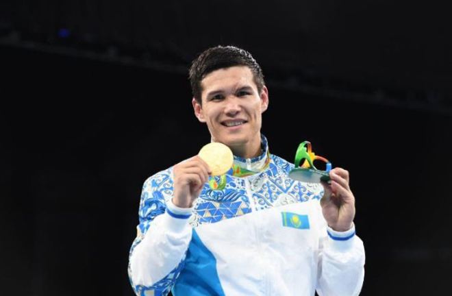 The Kazakh has eight wins since securing gold in Rio in 2016 Credit: Boxing Scene