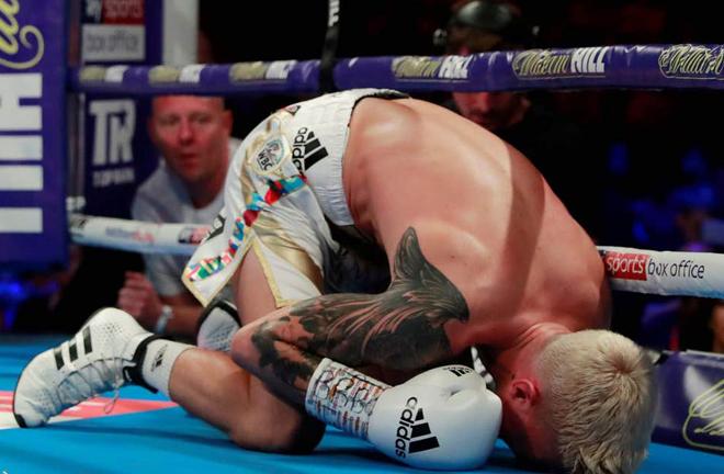 Martinez's knockdown against Charlie Edwards was overturned Credit: Reuters