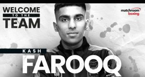 Scottish Bantamweight talent Kash Farooq has joined Matchroom Credit: Matchroom Boxing