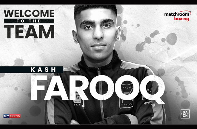 Scottish Bantamweight talent Kash Farooq has joined Matchroom Credit: Matchroom Boxing