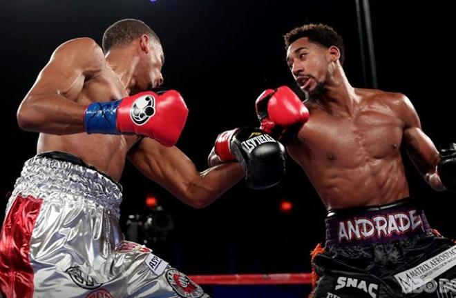 Fox battling Andrade. Photo credit: HBO Boxing