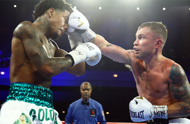Frampton floored the American twice in a one-sided victory Credit: Carl Frampton