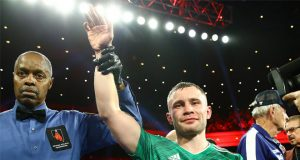 Carl Frampton injured his hand but scored a unanimous decision over Tyler McCreary in Las Vegas Credit: Carl Frampton