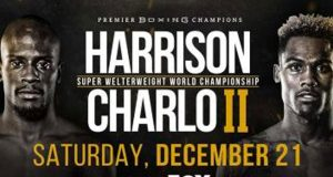 "The highly-anticipated WBC Super Welterweight World Championship rematch between Tony ""Superbad"" Harrison and Jermell ""Iron Man"" Charlo goes down tonight in California."
