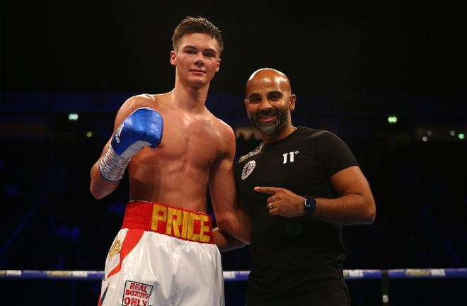 Price is guided by trainer Dave Coldwell Credit: boxingscene