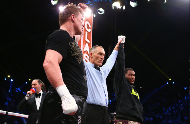 The fight ended with the referee announcing a split-draw. Photo Credit: Mark Robinson/Matchroom Boxing