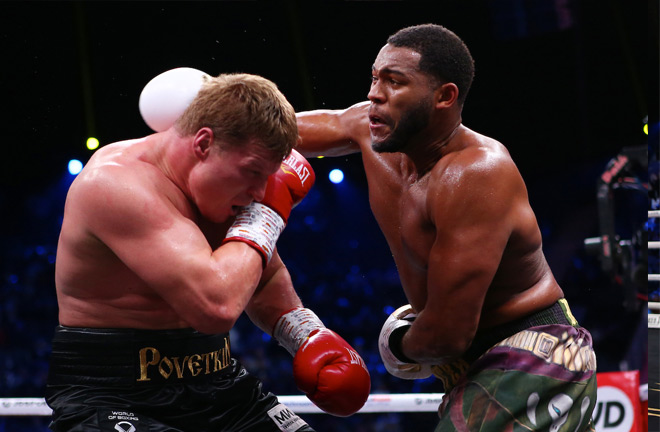 Hunter shared a enthralling bout with Povetkin in Saudi Arabia in December Credit: Mark Robinson/Matchroom Boxing