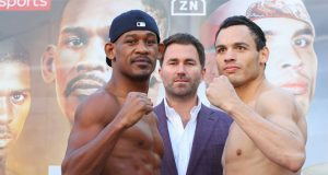 Daniel Jacobs takes on fellow former middleweight world champion Julio Cesar Chavez Jr at catchweight on Saturday Credit: Matchroom Boxing