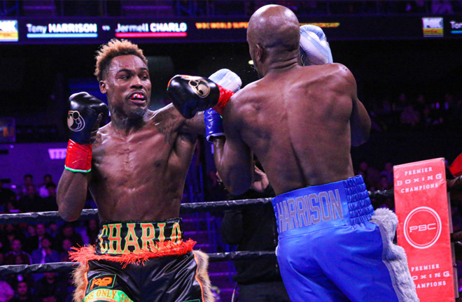 Jermell Charlo became a two-time world champion beating Tony Harrison in their rematch in California in December Credit: Leo Wilson / Premier Boxing Champions