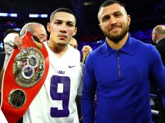 IBF champion Teofimo Lopez is set to clash with Vasyl Lomachenko in an undisputed clash in May Credit: Top Rank