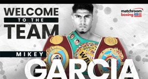 Four-weight world champion Mikey Garcia has signed a one-fight deal with Matchroom Boxing and DAZN Credit: Matchroom Boxing