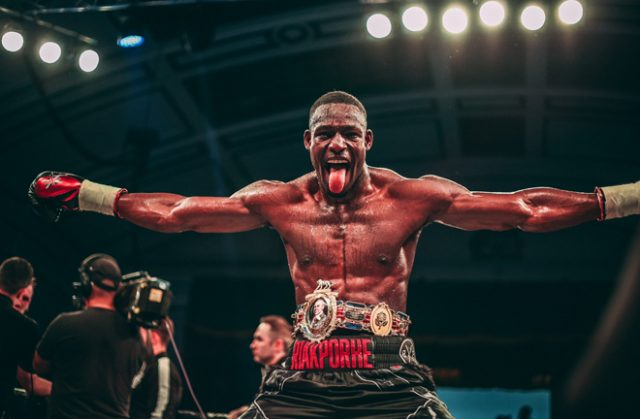 Richard Riakporhe beat Jack Massey on a unanimous decision to claim the British Cruiserweight title Credit: Richard Riakporhe