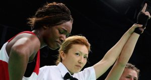 Savannah Marshall defeating Claressa Shields as an amateur. Photo credit: skysports.com