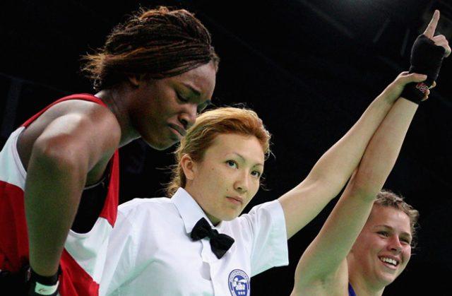 Savannah Marshall defeating Claressa Shields as an amateur. Photo credit: skysports.com