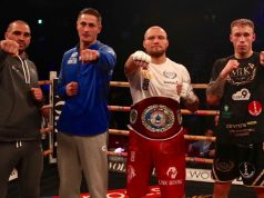 Serge Michel, Hosea Burton, Ricards Bolotniks and Liam Conroy progressed to the Golden Contract semi-finals Credit: MTK Global